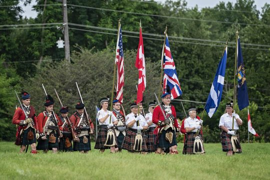 Start of the event by St. Andrew's Honor Guard & Grant's Company 42nd Highlanders