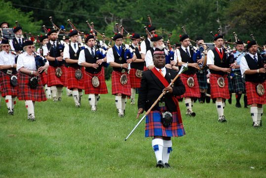 St. Andrew's Pipe Band in Massed Bands entry.