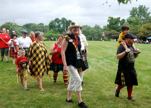 Clan MacLeod of Lewis in the Parade of the Clans.