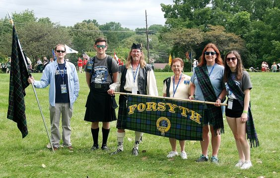 Forsyth Clan in the Parade of the Clans.